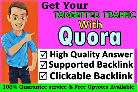Get targeted traffic through 20 Quora answer