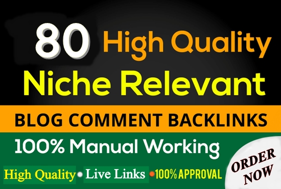 I will create 80 Niche Relevent Blog Comments Backlinks