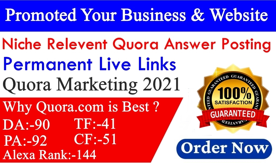 I will Create 20 Niche Relevant Quora Answers For Targeted Traffic