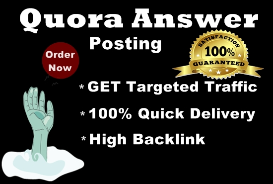 Provide Niche related 8 Quora answers with Different account & 5 upvotes on each