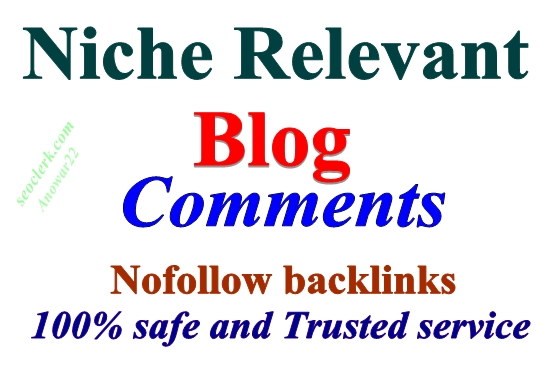 Manually 80 HQ Niche Relevant Blog Comments Backlinks