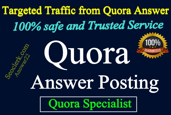 Keyword Related 5 High Quality Quora Answer with URL