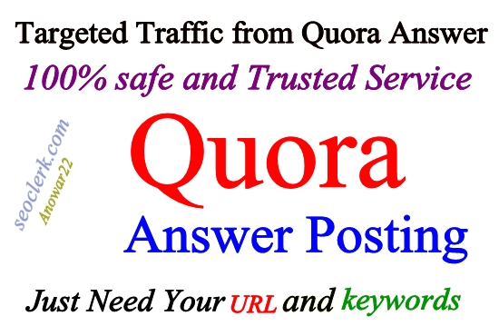Guaranteed 12 High Quality Quora Answer with URL