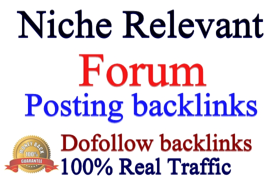 Provide 8 HQ Niche Relevant Forum Posting Backlinks