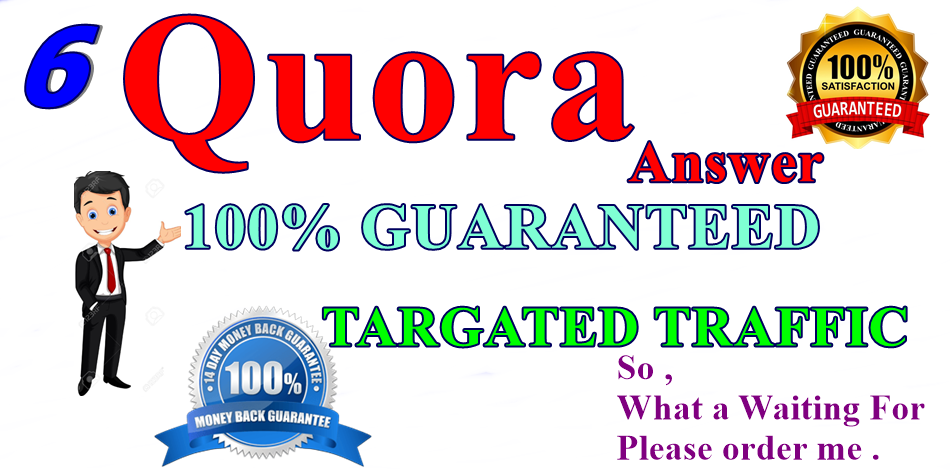 6 High Quality quora baclinks 100 Guaranteed targeted traffic