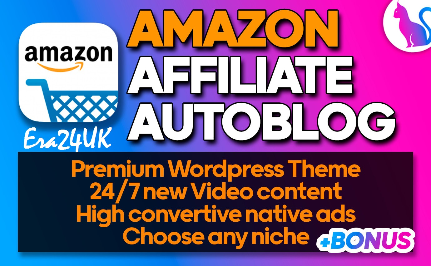 Amazon Autoblog Affiliate WordPress Website With Adsense, Video Content Responsive