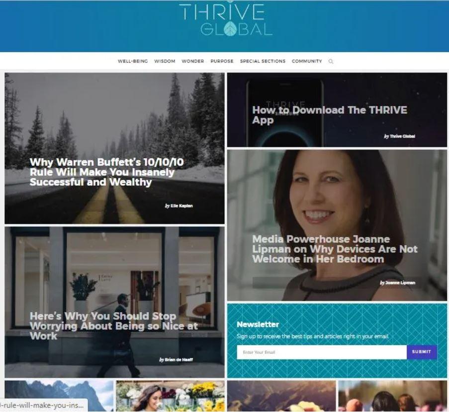 Write And Publish On DA 64 blog Thriveglobal