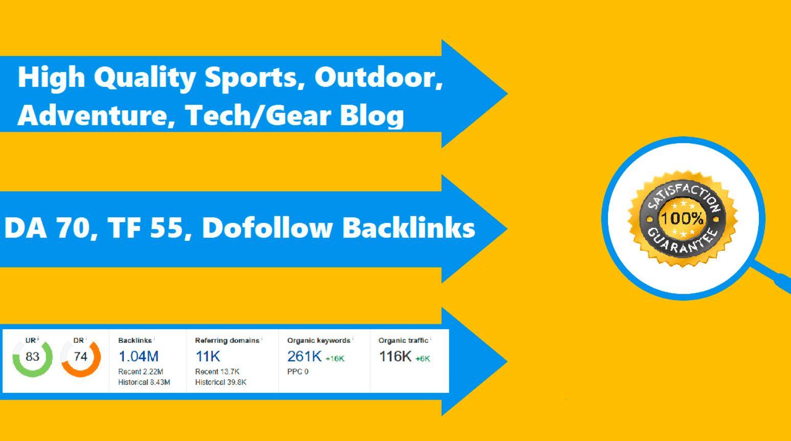 Write & Publish On DA70 Sports Blog Tetongravity