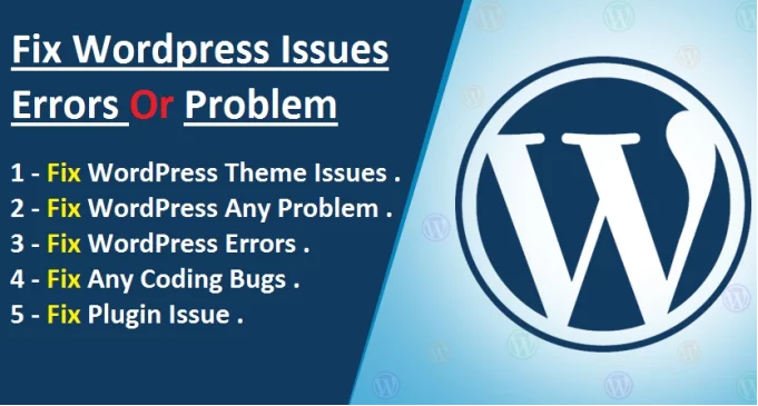 Fix wordpress issues,  errors,  bugs, malware etc
