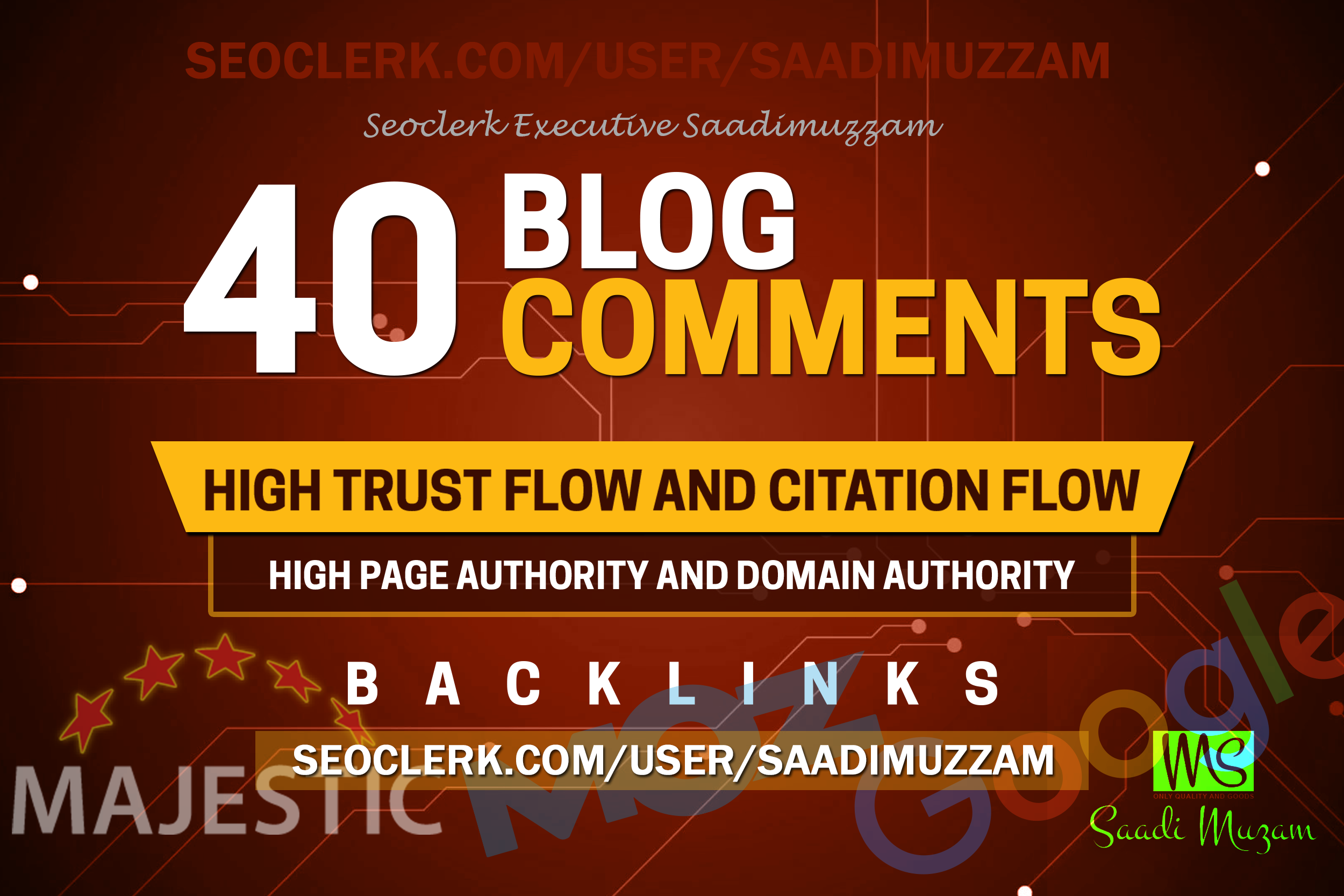 We provide the 40 high quality blog comments