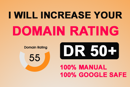 Increase Domain Rating DR Ahrefs to 60 plus for 50