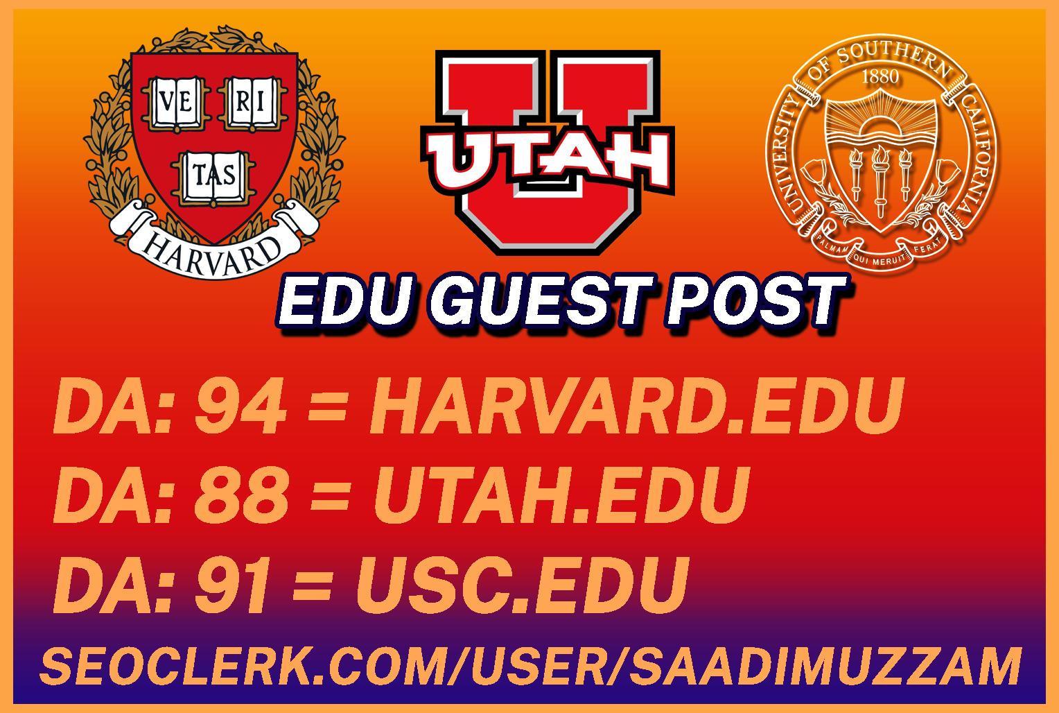 We do provide you EDU GuestPost with DoFoll0w link
