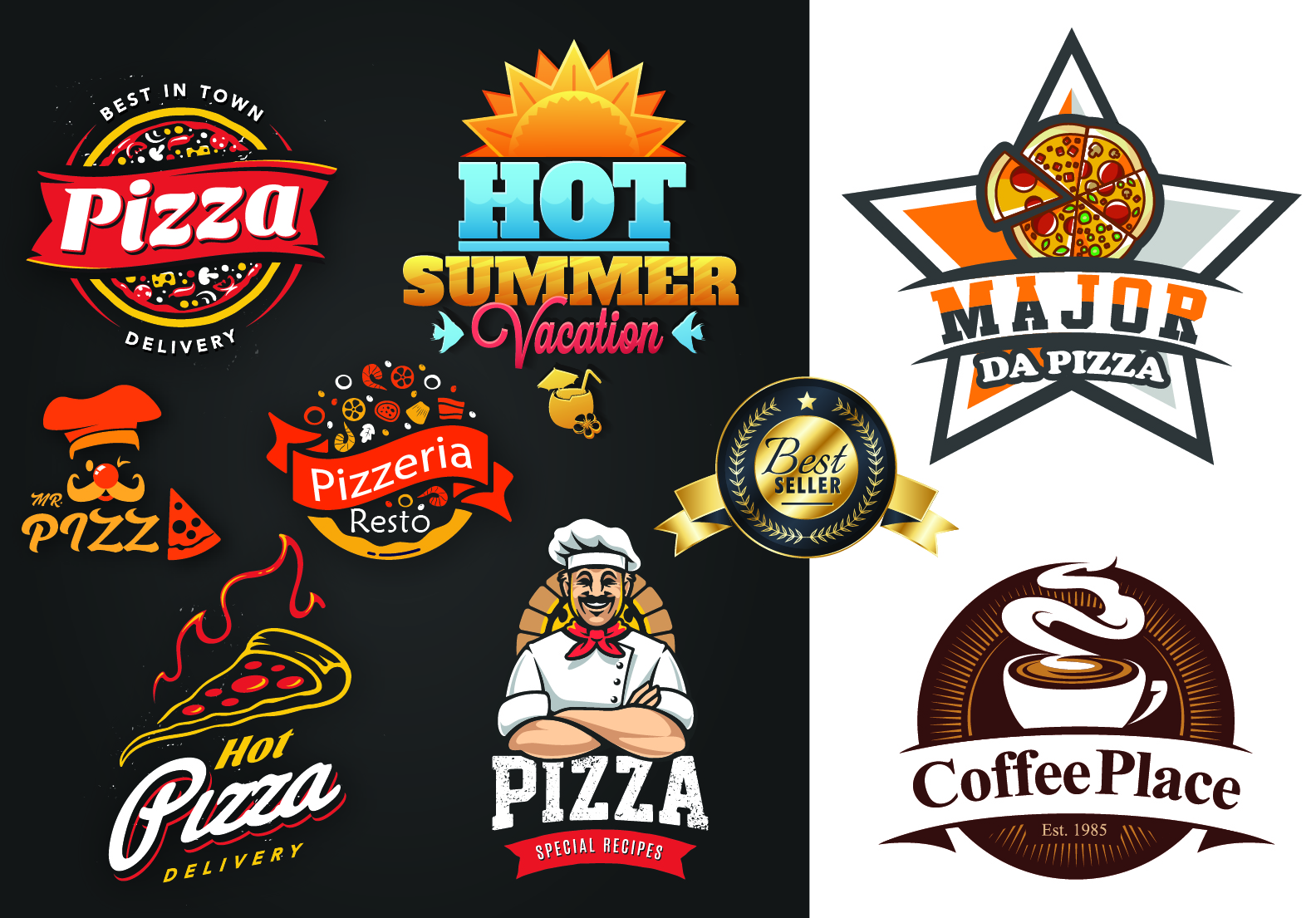 I will do food,pizza,bar,cafe,bbq,burger grill and restaurant logo