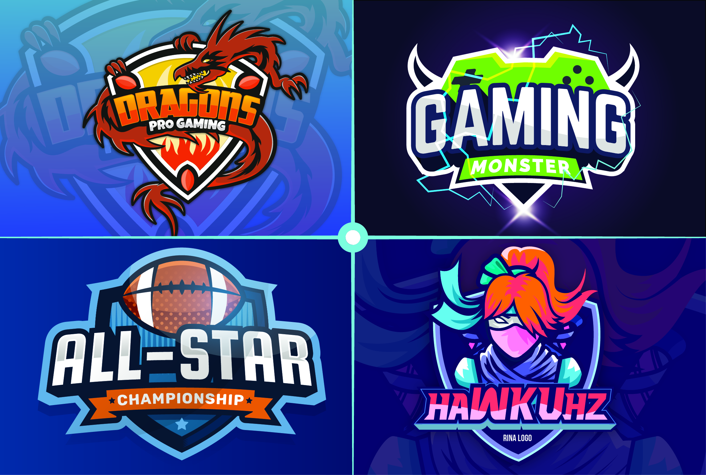 I will do mascot logo for your esport, sport, team, game, twitch