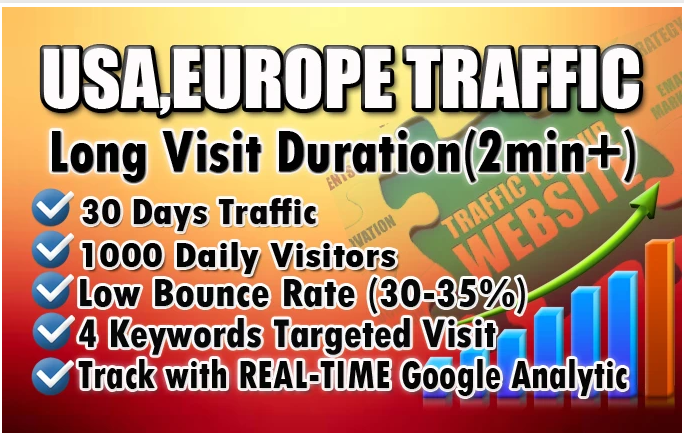 I Will Drive 2000 Genuine Web Traffic For 30 Days