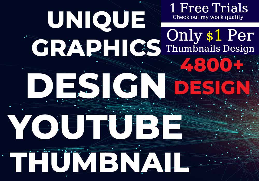I will unique graphics design youtube thumbnail