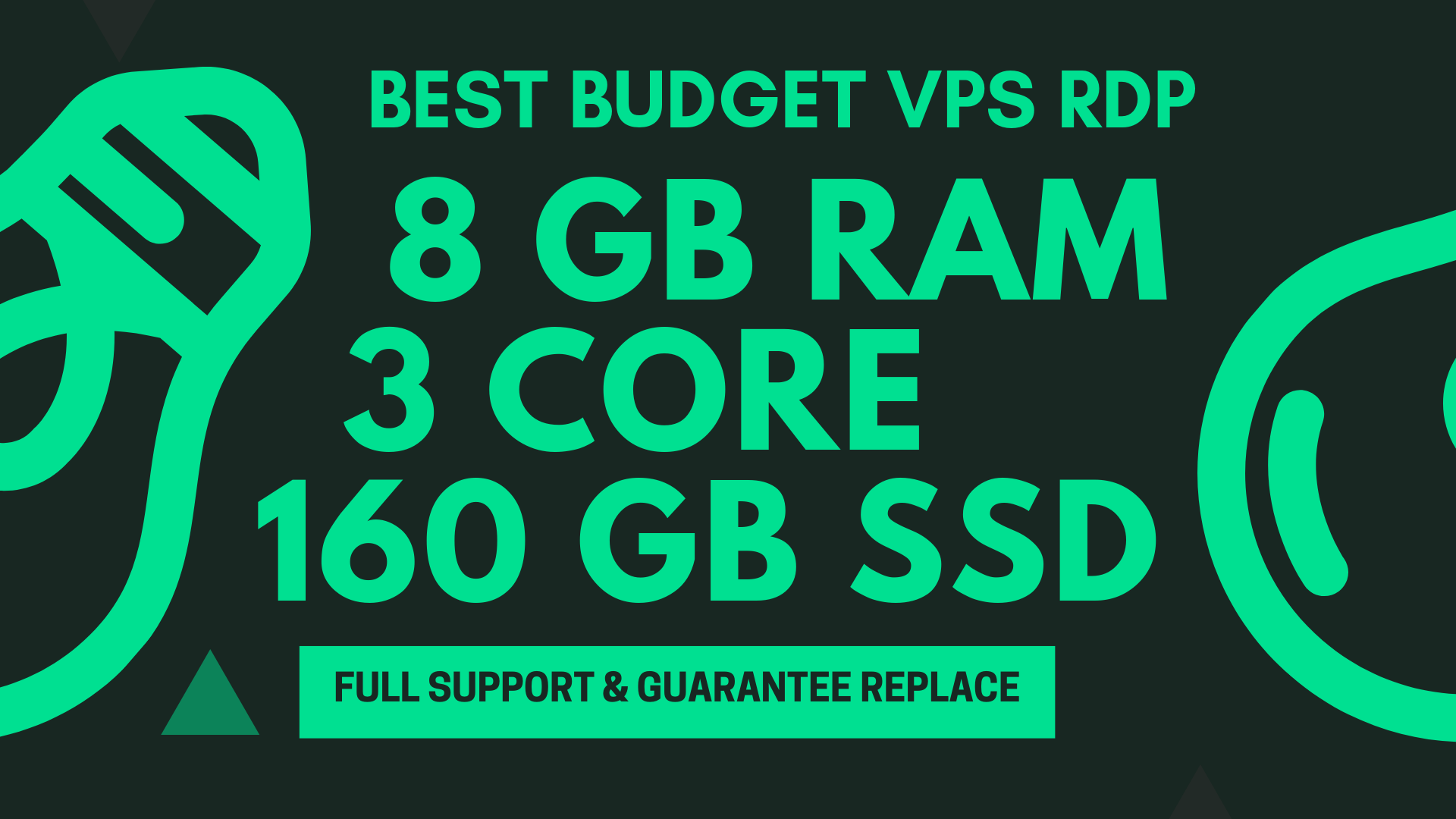 BEST BUDGET WINDOWS RDP VPS 8GB RAM 3CORE 160GB SSD for $10