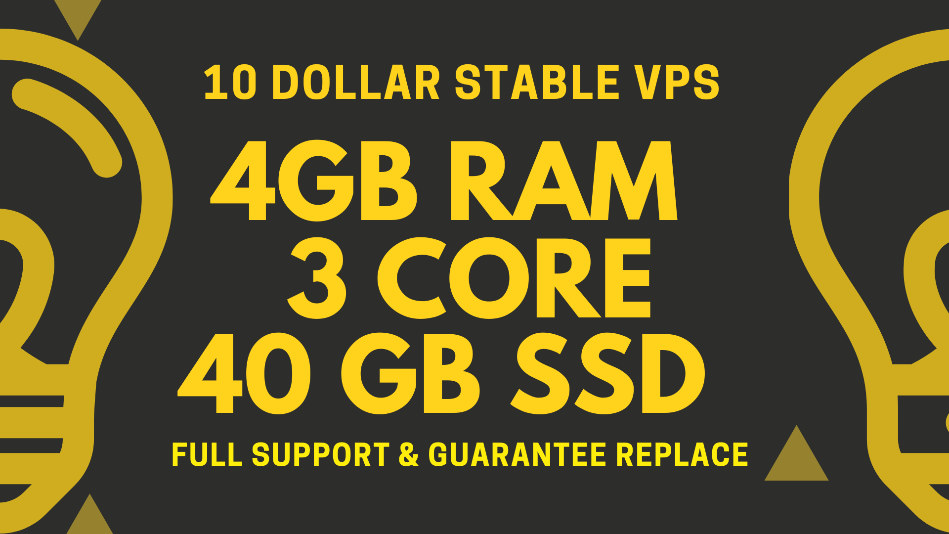 10 DOLLAR STABLE VPS 4GB 3CORE 40GB SSD RENEWABLE