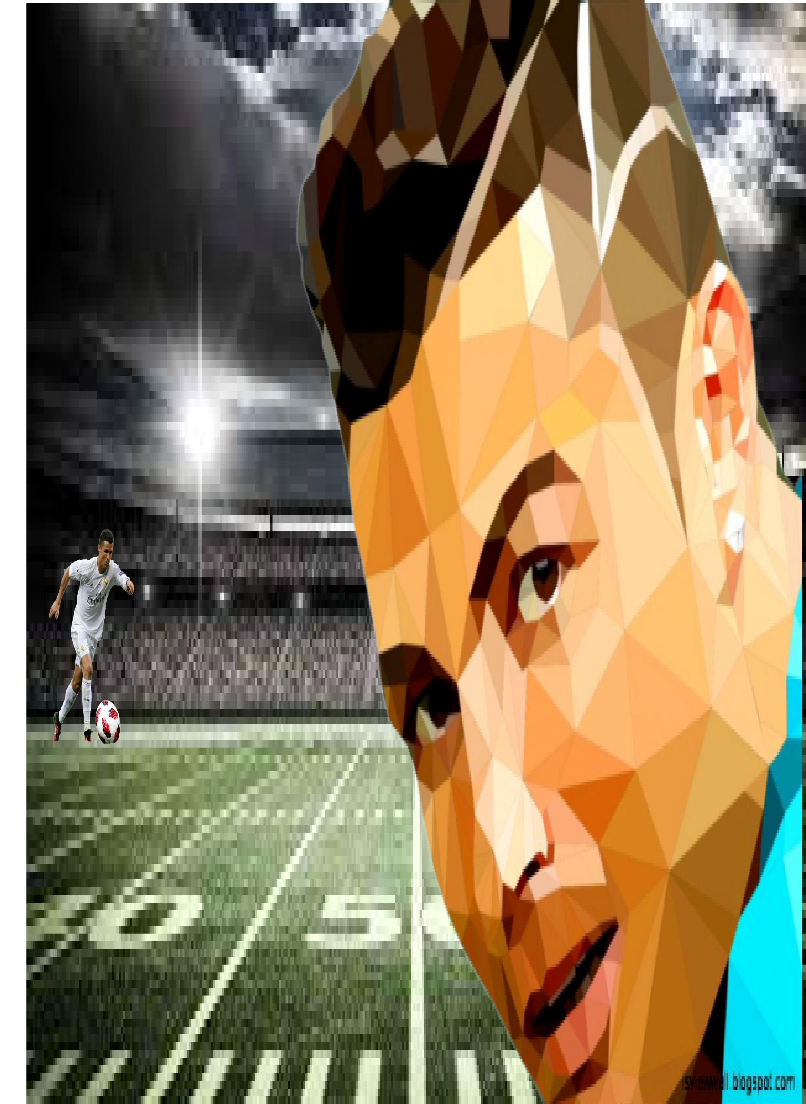 It a edit photo of Ronaldo. I can do any kind of photo editing