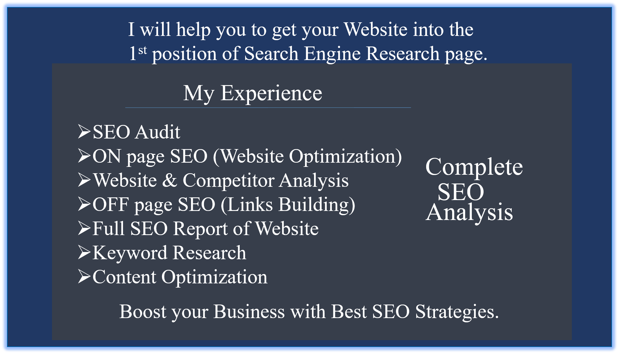 Complete SEO Audit Report of your Website