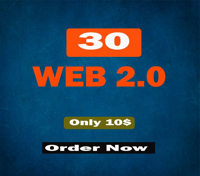 I Will Create Premium 30 Quality Web 2.0 SEO Backlinks Rank Blast
