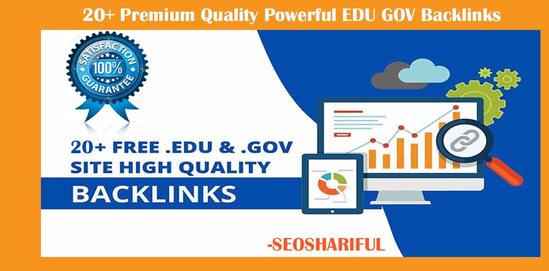 20+ Premium Quality Powerful EDU GOV Backlinks