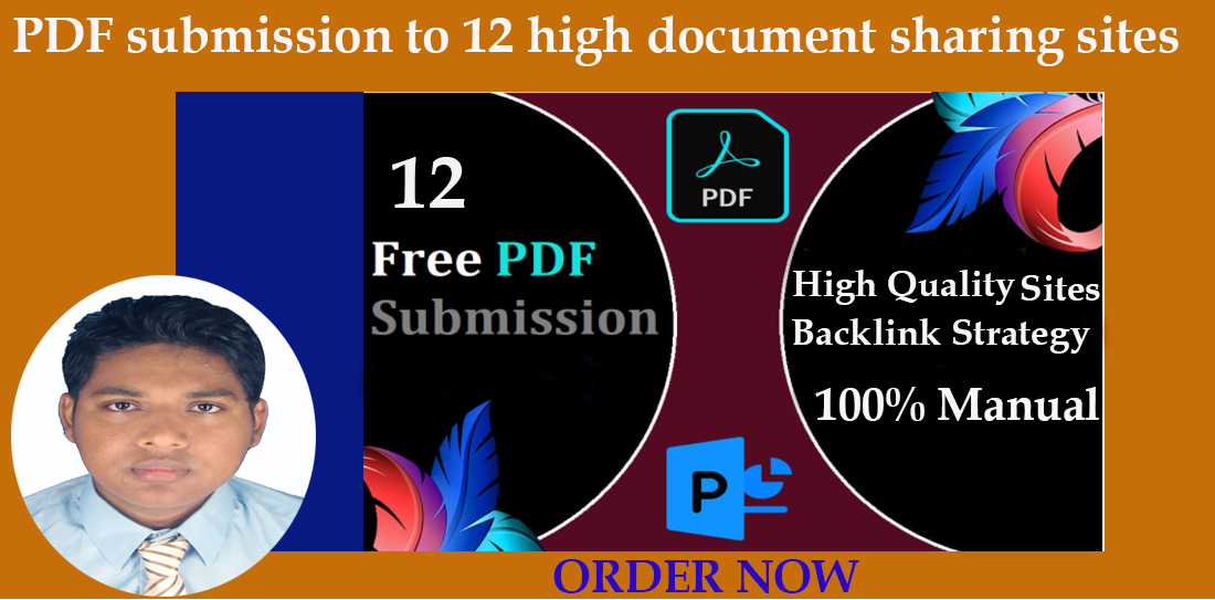 Manually pdf submission in 12 high PR doc sharing sites