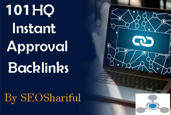 101 instant approved HQ Backlink