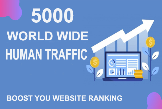 5000+ AdSense World Wide Human TRAFFIC