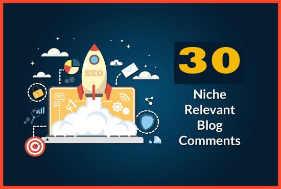 30 Unique Domains Manual Blog Comments Backlinks With Da 30 plus