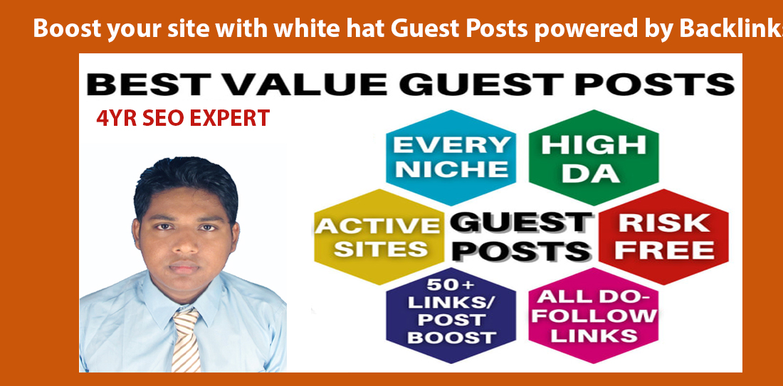 Boost your site with white hat Guest Posts powered by Backlinks