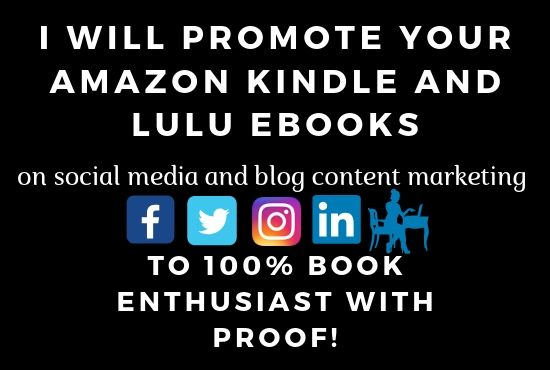 I'll Promote Your Amazon Kindle And Lulu Ebooks