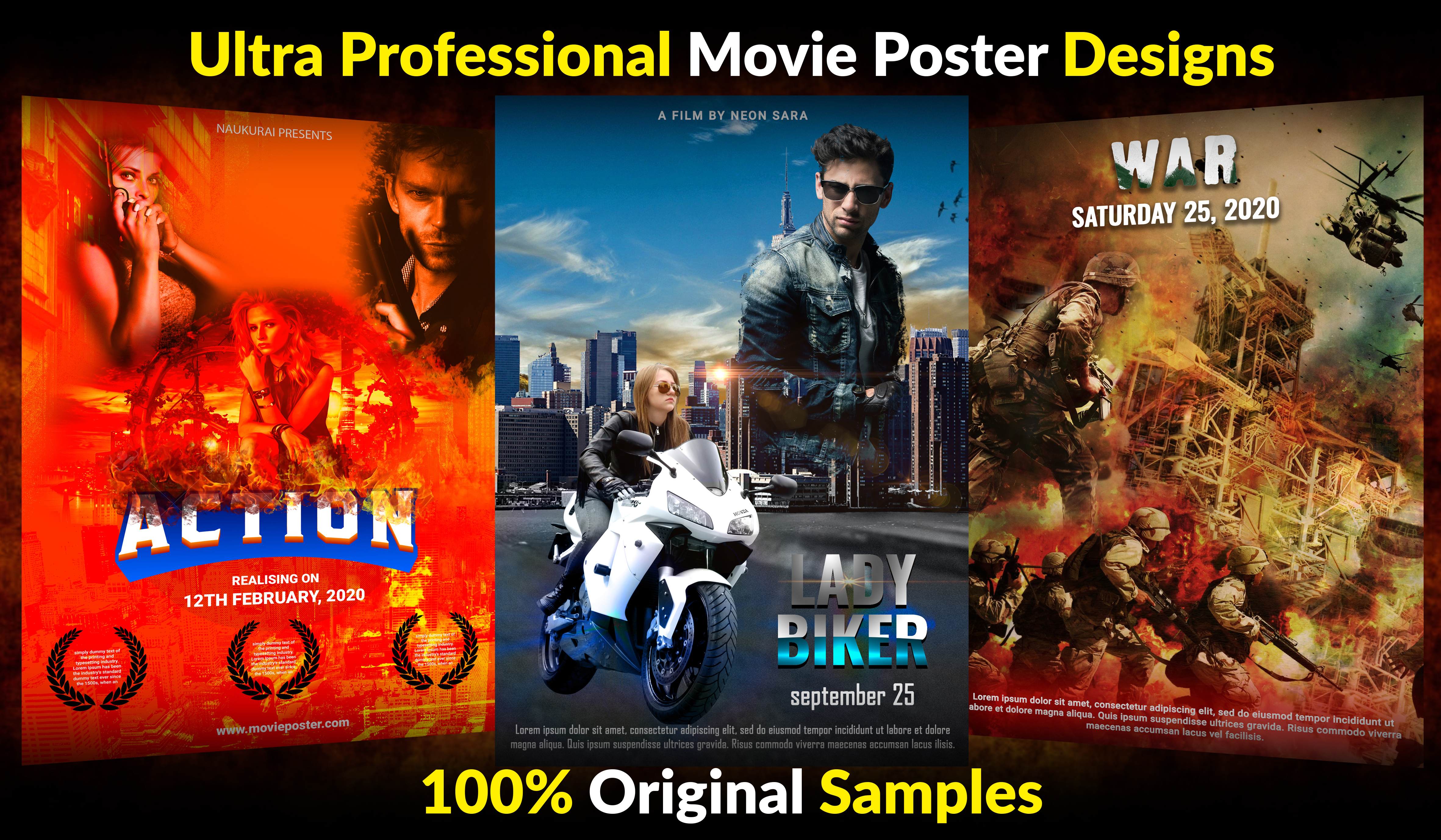 I will create Professional Movie Poster Design
