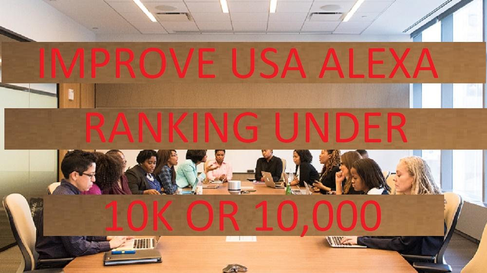 I will improve USA alexa rank under 10k