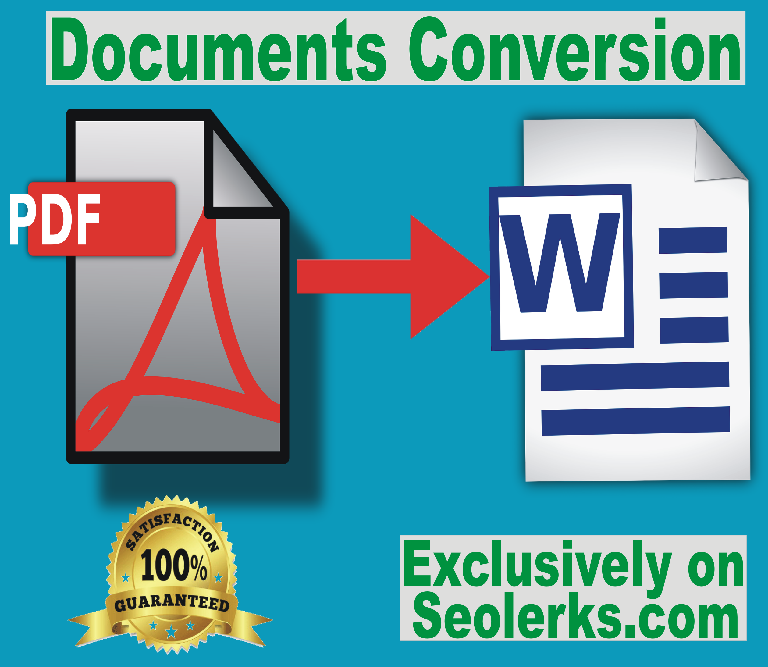 I will convert your PDF format documents to Microsoft Word format documents for 5.