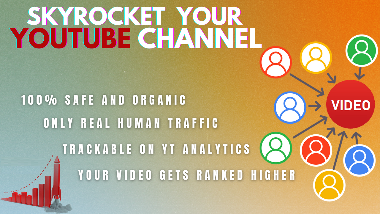 I will drive quality traffic to youtube videos.