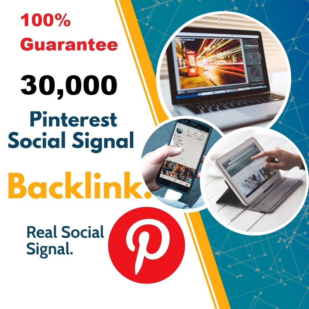 Powerful Top Platform 30,000 Pinterest Social Signal Mix To Boost Visibility in Social Networks