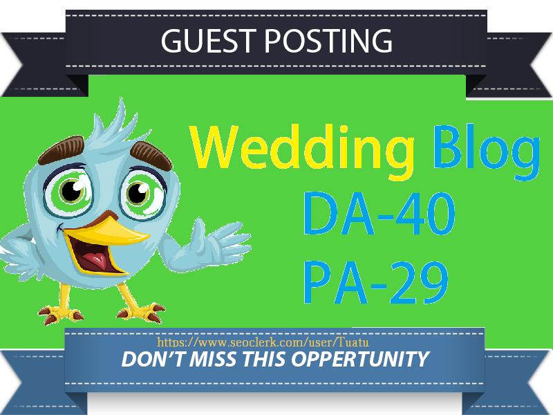 Guest Post On DA40 Wedding Blog