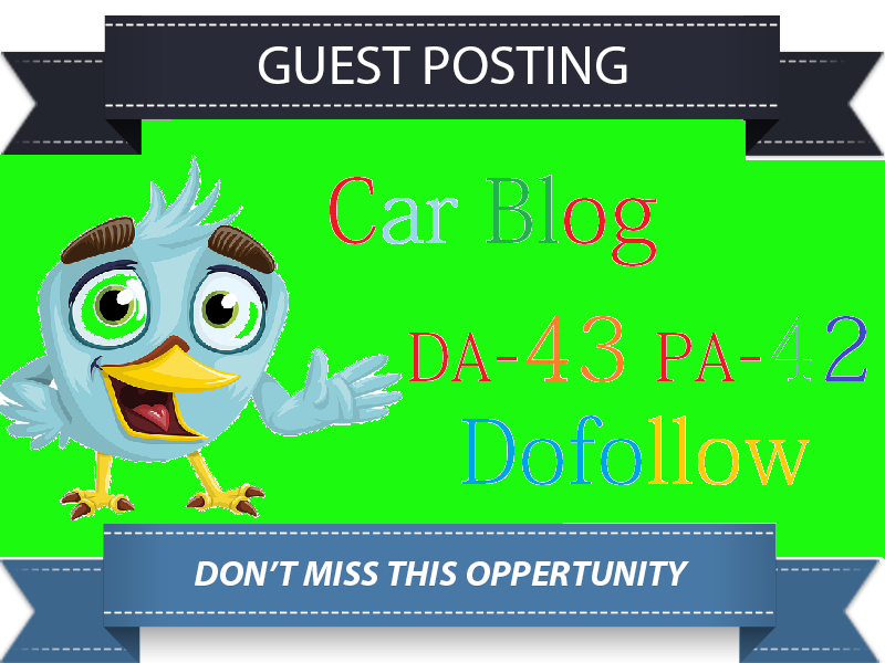 Guest Post On DA43 Car Blog Website Not PBN Site