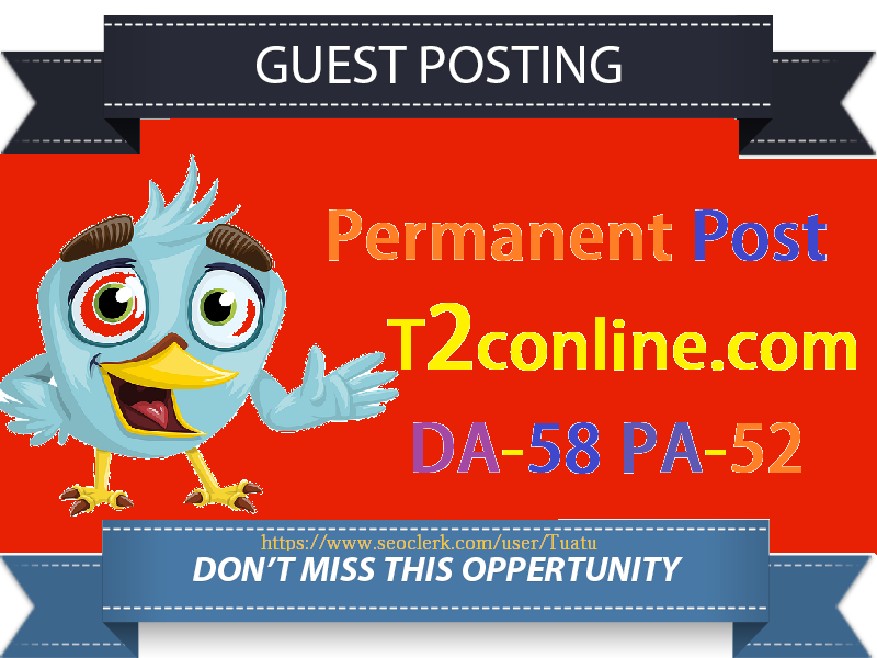 Publish Guest Post On DA58 Authority Website T2conline