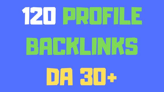 120 high domain authority profile backlinks