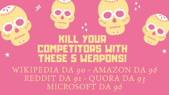 Wikipedia + Amazon + Reddit + Quora + Microsoft,  5 Super DoFollow Backlinks