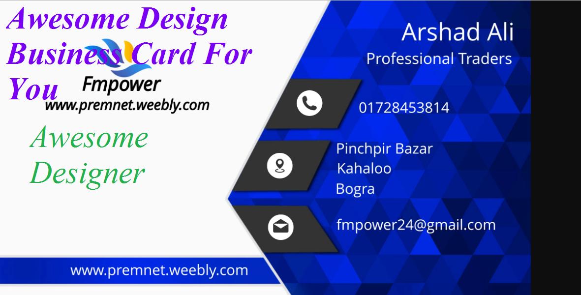 Designer Business card for you