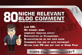 80 niche relevant blog comment backlinks