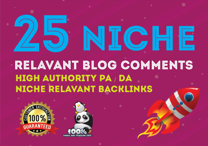 Do 25 Niche Relevant Manual Blog Comments All Unique Domain