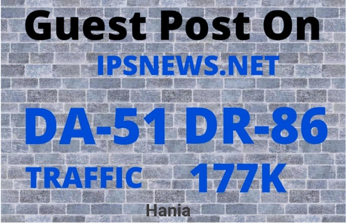 I will publish your article on ipsnews Do-Follow backlink