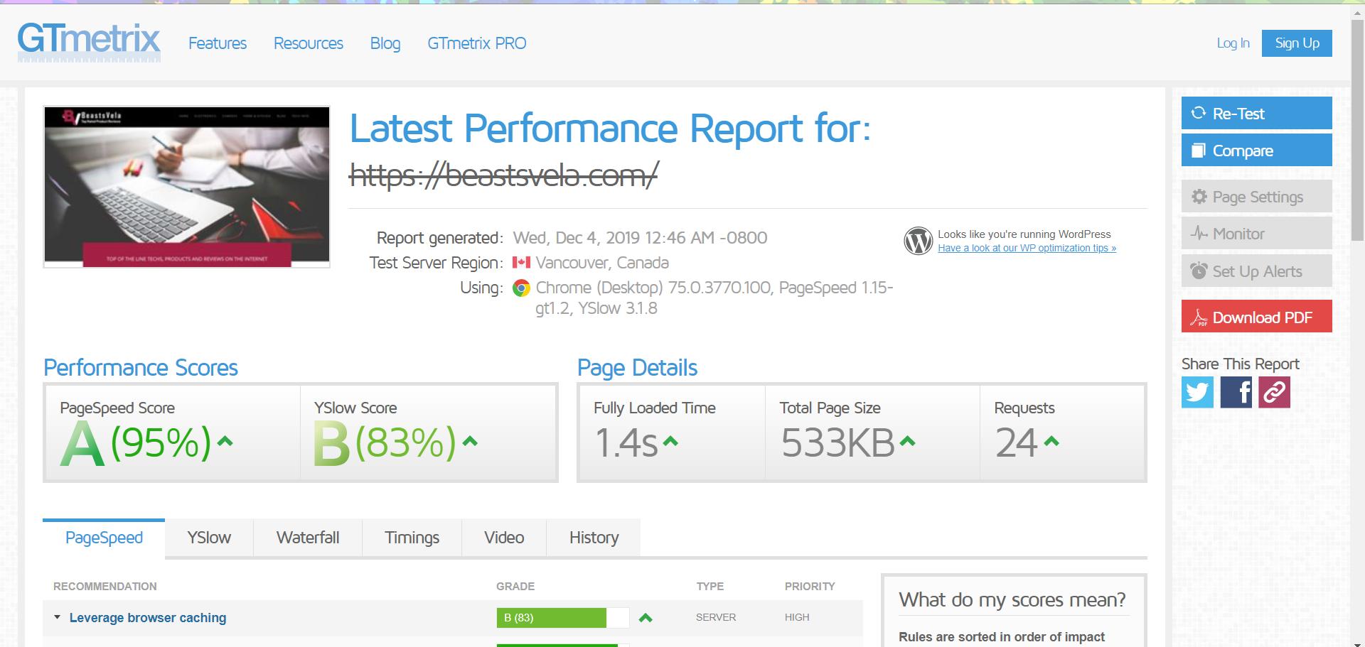 I will do WordPress Speed Optimization and improve load time using GT Metrix