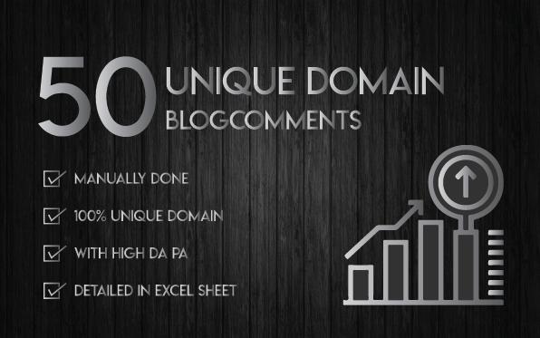 Do 50 Unique Domain Dofollow Blog Comments High Da Pa