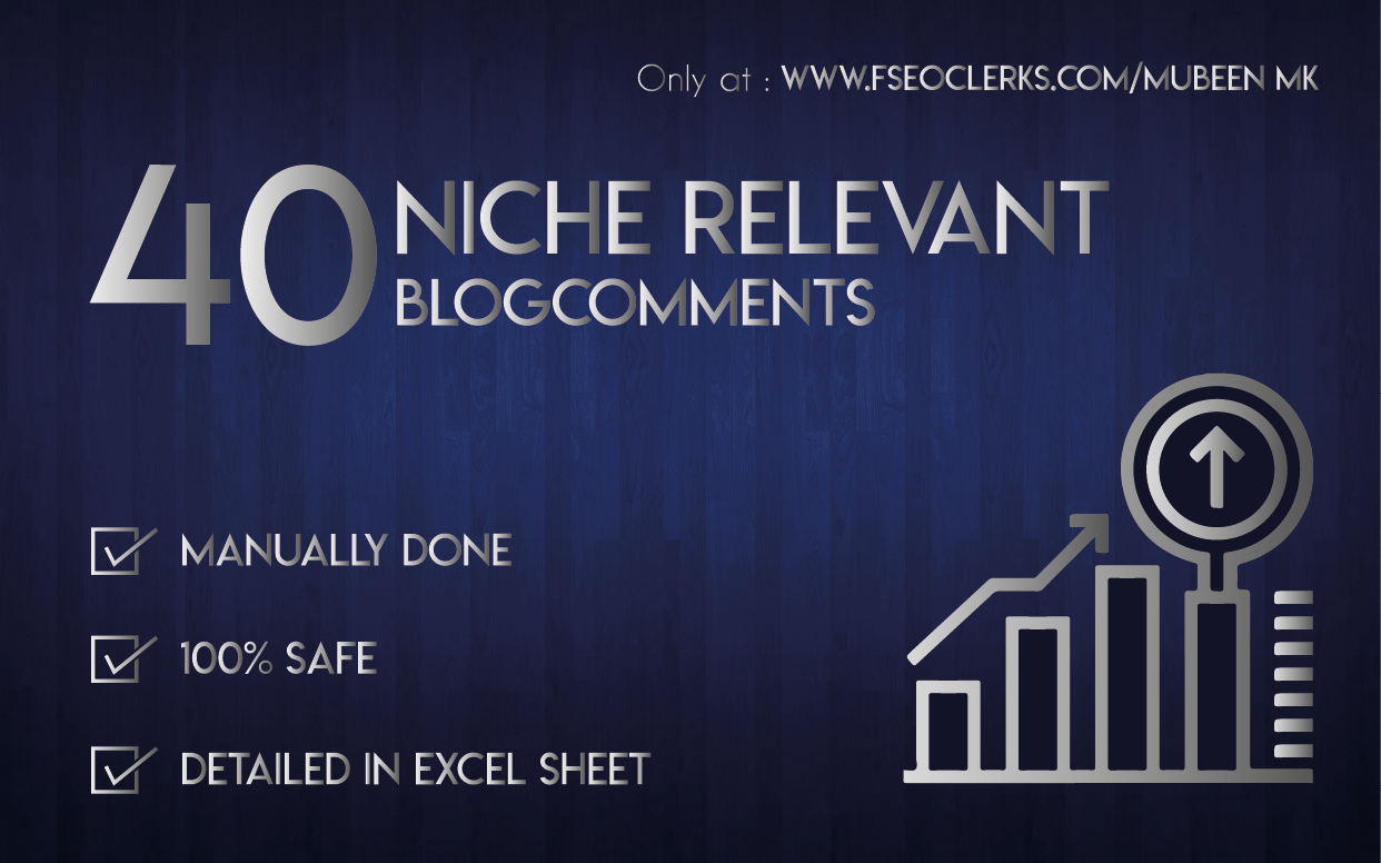 Do 40 Niche Relevant Blog Comments Backlinks