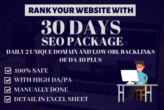 Do Daily Dripfeed 2 Unique Domain And Low OBL Dofollow Backlinks Of DA 40 PLus For 30 Days